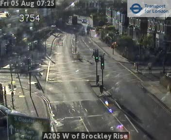 A205 West of Brockley Rise traffic camera.