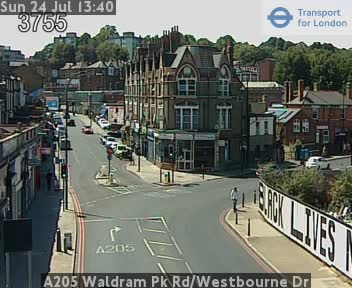 A205 Waldram Park Road / Westbourne Drive traffic camera.