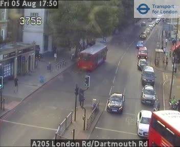 A205 London Road / Dartmouth Road traffic camera.