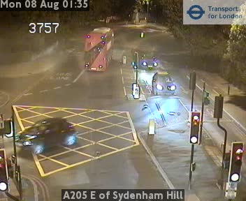 A205 E of Sydenham Hill traffic camera.