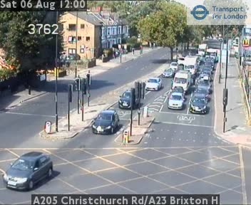 A205 Christchurch Road / A23 Brixton Hill traffic camera.