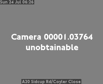 A20 Sidcup Road / Coyler Close traffic camera.