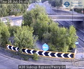A20 Sidcup Bypass / Perry Street traffic camera.