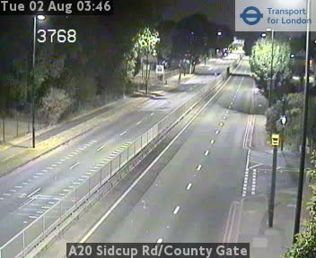A20 Sidcup Road / County Gate traffic camera.