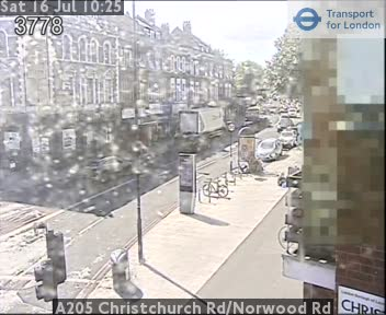 A205 Christchurch Road / Norwood Road traffic camera.