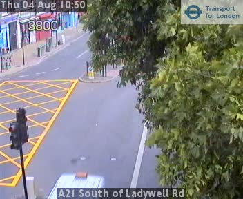 A21 South of Ladywell Road traffic camera.