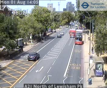 A21 North of Lewisham Park traffic camera.