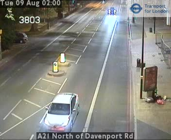 A21 North of Davenport Road traffic camera.