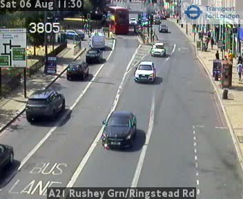 A21 Rushey Green / Ringstead Road traffic camera.