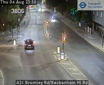 A21 Bromley Road / Beckenham Hl Road traffic camera.