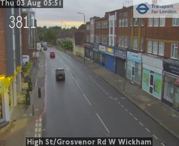 High Street / Grosvenor Road W Wickham traffic camera.