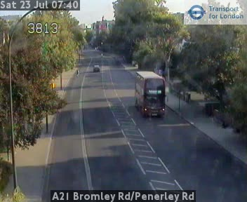 A21 Bromley Road / Penerley Road traffic camera.