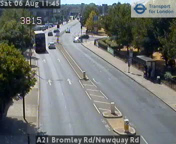 A21 Bromley Road / Newquay Road traffic camera.