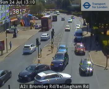 A21 Bromley Road / Bellingham Road traffic camera.