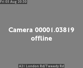A21 London Road / Tweedy Road traffic camera.