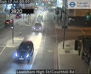 Lewisham High Street / Courthill Road traffic camera.