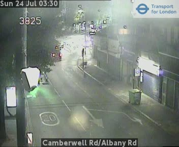 Camberwell Road / Albany Road traffic camera.