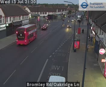 Bromley Road / Oakridge Lane traffic camera.