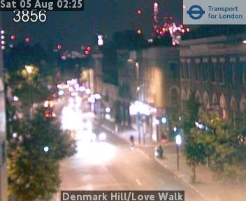 Denmark Hill / Love Walk traffic camera.