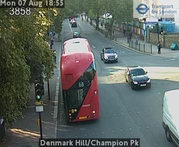Denmark Hill / Champion Park traffic camera.