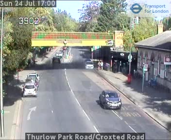 Thurlow Park Road / Croxted Road traffic camera.