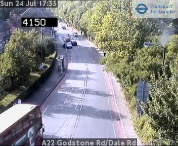 A22 Godstone Road / Dale Road traffic camera.