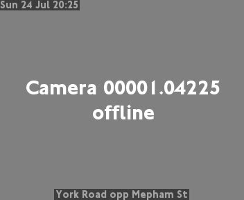 York Road opp Mepham Street traffic camera.
