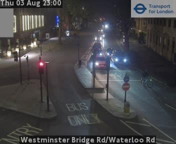 Westminster Bridge Road / Waterloo Road traffic camera.