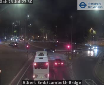 Albert Embankment Lambeth Brdge London Traffic Cam Central London
