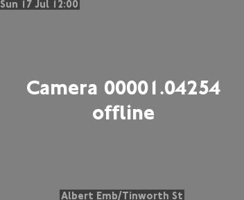 Albert Embankment / Tinworth Street traffic camera.