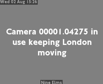 Nine Elms traffic camera.