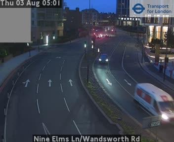 Nine Elms Lane / Wandsworth Road traffic camera.