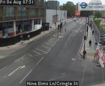 Nine Elms Lane / Cringle Street traffic camera.