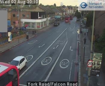 York Road / Falcon Road traffic camera.