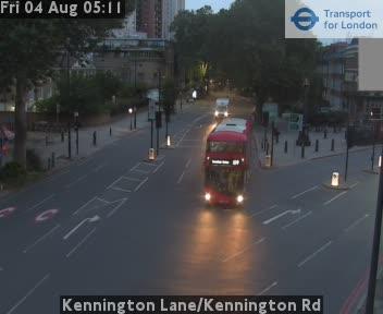 Kennington Lane / Kennington Road traffic camera.