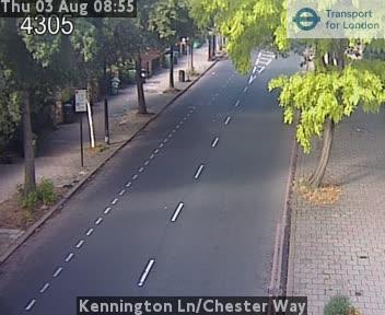 Kennington Lane / Chester Way traffic camera.