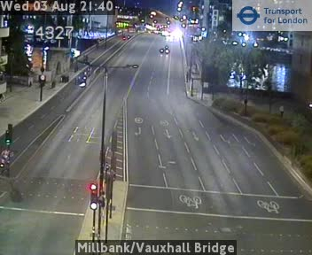 Millbank / Vauxhall Bridge traffic camera.