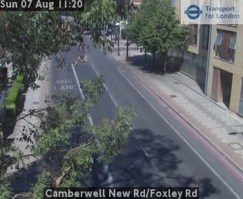 Camberwell New Road / Foxley Road traffic camera.