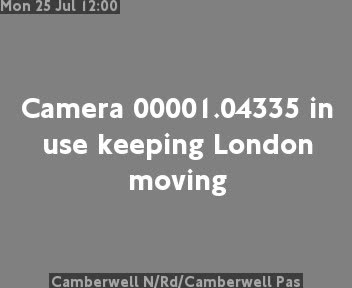 Camberwell New Road / Camberwell Passage traffic camera.