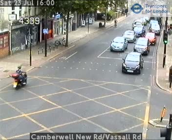 Camberwell New Road / Vassall Road traffic camera.