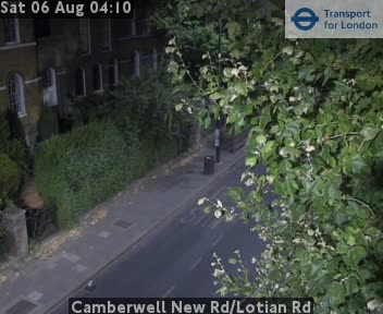Camberwell New Road / Lotian Road traffic camera.