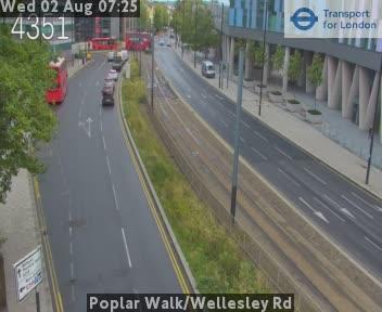 Poplar Walk / Wellesley Road traffic camera.