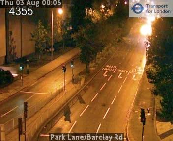Park Lane / Barclay Road traffic camera.
