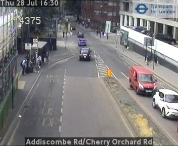 Addiscombe Road / Cherry Orchard Road traffic camera.