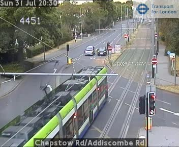 Chepstow Road / Addiscombe Road traffic camera.