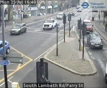 South Lambeth Road / Parry Street traffic camera.