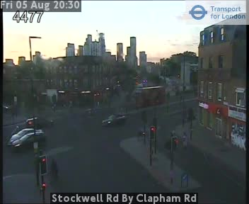 Stockwell Road By Clapham Road traffic camera.