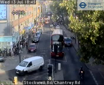 Stockwell Road / Chantrey Road traffic camera.