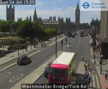 London Jam Cam Westminster Bridge York Road Traffic Weather Webcam London