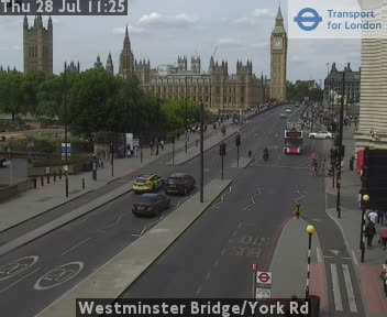 Westminster Bridge Live COVID-19 Lockdown Traffic Cam London